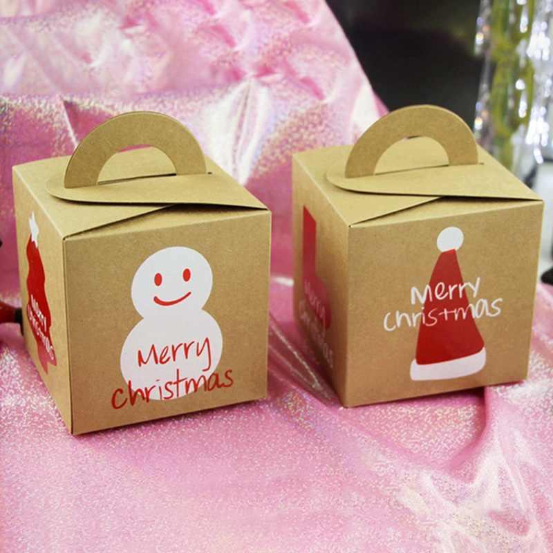 Chúc Giáng Sinh Apple Hộp Đặc Biệt Đêm Giáng Sinh Bánh Bao Bì Hộp Quà Tặng Thùng Người Tuyết Hộp Kẹo Trẻ Em Trị Hộp Quà Tặng