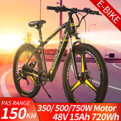 GG 2021 New Arrival E-bike Electric Mountain Bike 48V15Ah 350W 500W 750W Invisible Lithium Battery Range 150km