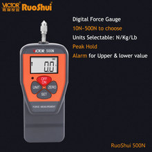 RuoShui 500N Digitale Kraft Gauge 50kg 110lb Dynamometer Messgeräte Schub Push Pull Tester Meter cheap CN (Herkunft)