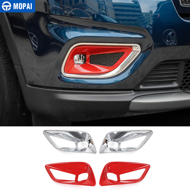 MOPAI Car Stickers for Jeep Cherokee 2019+ ABS Car Front Fog Light Lamp Decoration Cover Accessories for Jeep Cherokee 2019+