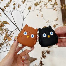 For AirPod 2 Case 3D Funny Owl Cartoon Soft Silicone Wireless Bluetooth Earphone Cases Apple Airpods Cute Cover Funda