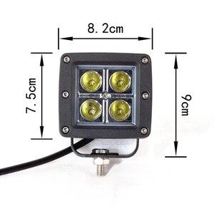 Image 4 - Przednia osłona uchwyt montażowy lampy zestaw z 16w miejscu pracy diody Led światło do Toyoty Fj Cruiser 2007 2015 światło Bar uchwyt montażowy