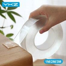 Ykz 1m/2m/3m nano fita dupla face transparente novace 20mm reutilizável impermeável fita adesiva organizador de cabo limpo