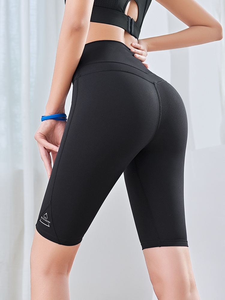 running - Sports five-point shorts women summer thin running shorts high waist hips tight yoga fitness shorts