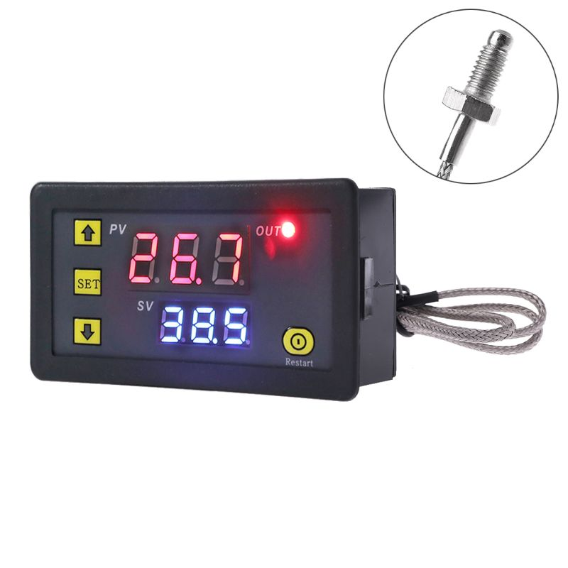 Цифровой температурный контроллер-60 ~ 500 ℃ K-type M6 датчик термопары со встроенным термостатом