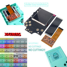 Funnyplaying dmg retro pixel ips kit de tela lcd luz alta brilho luminoso para gameboy gb console 36 cor retro com escudo