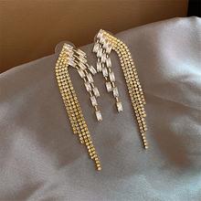 Lubov роскошные золотые серебряные цветные металлические длинные