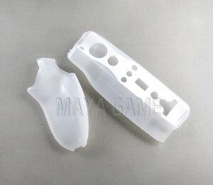 Image 5 - Controller Motion Plus incorporato per Wii 2 in 1 custodia morbida in Silicone per gioco Bluetooth Controle per giochi Wireless Wii telecomando Nunchuck