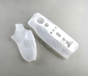 Image 5 - Wii 2 용 내장 모션 플러스 컨트롤러 1 블루투스 게임 Controle 실리콘 소프트 케이스 Wii 무선 게임 원격 Nunchuck