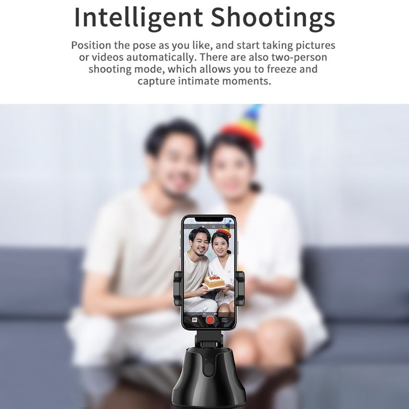 360° Selfie Shooting Gimbal With Tripod Face Object Tracking Selfie Stick For Smartphone Camera For Vlog Live Photo Video 1