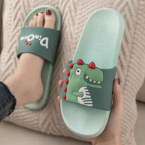 Image 1 - Mum Zapatillas de Interior de PVC suave para niños, zapatilla para baño antideslizante, estilo de dibujos animados, para el hogar, 2020