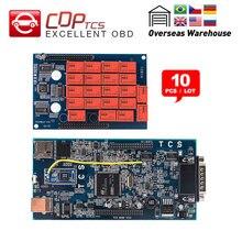 10 шт. CDP TCS CDP PRO Plus Bluetooth. R3 keygen программное обеспечение OBD2 Авто сканер для автомобилей грузовиков OBDII диагностический инструмент