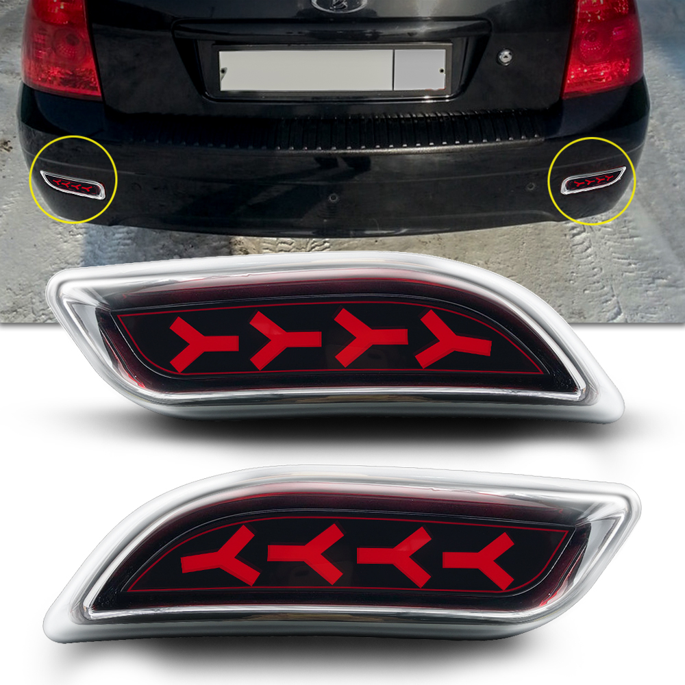 Купить с кэшбэком Auto Spare Parts Rear Fog Lamp Brake Light LED Tail Light SUV 4WD Sedan Cars for lada priora
