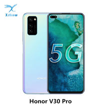 Honor v30 pro, smartphone 8gb ram 128gb/256gb rom 5g kirin 990 5g soc cpu 40mp câmera traseira tripla, supercarga 4100mah nfc