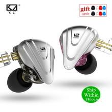 חדש KZ ZSX שליחות קטלנית 5BA 1DD היברידי ב אוזן אוזניות HIFI מתכת אוזניות מוסיקה ספורט ZS10 פרו AS12 AS16 ZSN פרו C12 A10 V90 DMG