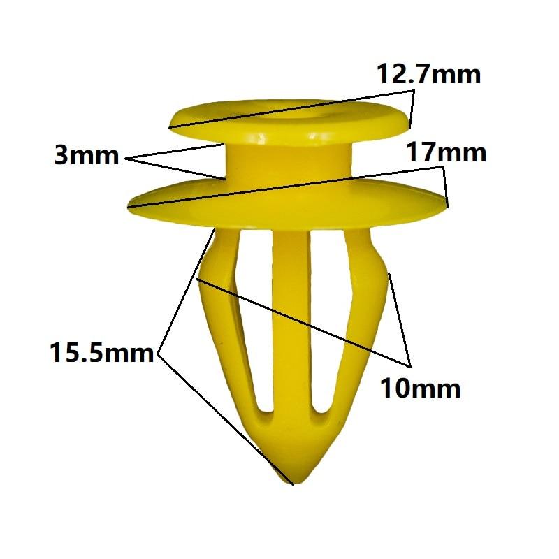 UNIVERSAL AUTO BODY TRIM FASTENER PLASTIC CLIPS  X10.PUSH-IN