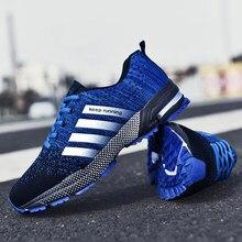 Chaussures de sport respirantes tissées pour hommes 6 couleurs grande taille 46 47 48 chaussures de course à pied, baskets à semelle en caoutchouc pop-corn