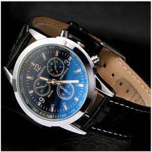 Image 3 - Mens Watch BlueRay Glass Leather Belt Mens Watches Geneva Business Wristwatch  Relogio Masculino Anniversary Gifts for Husband