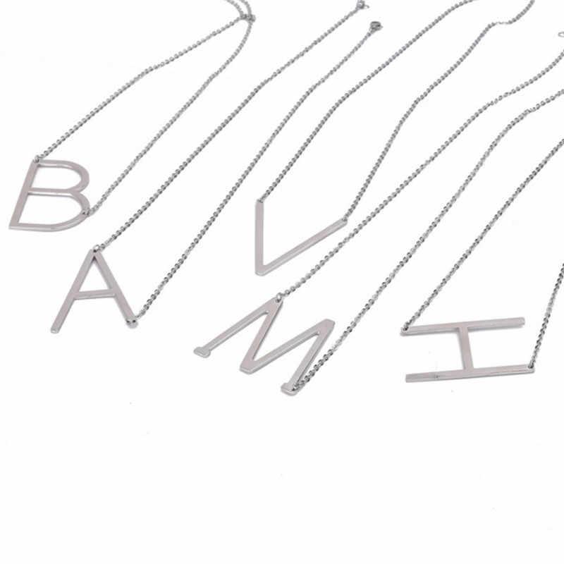 卸売新しいホットシルバーローズゴールドカラー 26 手紙アルファベットペンダントネックレスフリーコンビネーション初期チャーム女性ジュエリーギフト