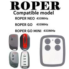 Roper ir mini controle remoto compatível cópia roper portão porta da garagem 433mhz 868mhz controle remoto