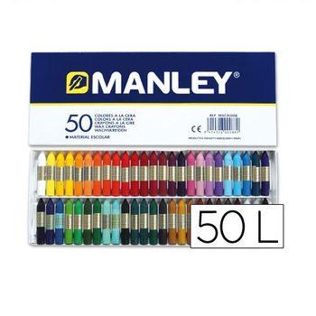 Caja 50 cera blanda de Colores Manley Multicolor