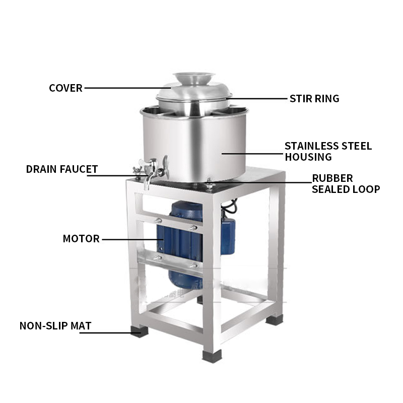 Commercial 4kg/time Electric Meat Mincer Grinder Processing Garlic Ginger Machine Type 24 Meatball Beater Stainless Steel