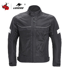 LYSCHY Men Motorcycle Jacket Summer Moto Riding Jacket Breathable Motorcycle Full Body Protection Moto Cross Motorbiker Clothing