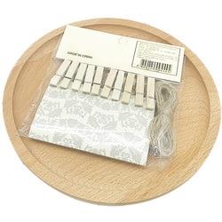 3,5 Cm de madera clip pequeño 20 Uds Tapa dura creativo registros clip pequeño decoración del hogar imagen de mensaje cartera