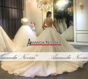 Image 2 - Full beading top body elegant wedding dress handmade high quality bridal dress 2020