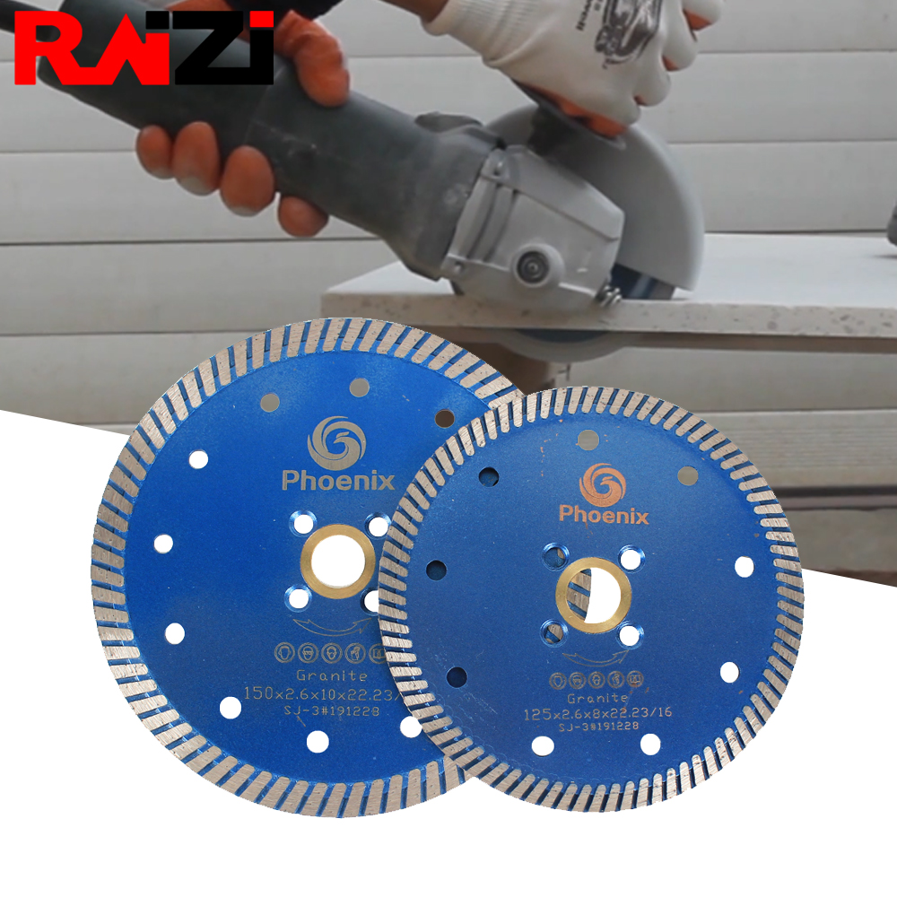 Raizi 115 Mm/125 Mm Turbo Diamond Saw Blade Disc For Cutting Granite Porcelain Marble Tile Engineered Stone Multi Purpose Disc
