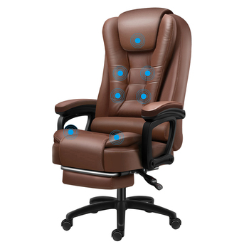 High Quality Boss Office Silla Gamer Poltrona Chair Can Lie Wheel Synthetic Leather With Footrest Ergonomics Office Furniture 6