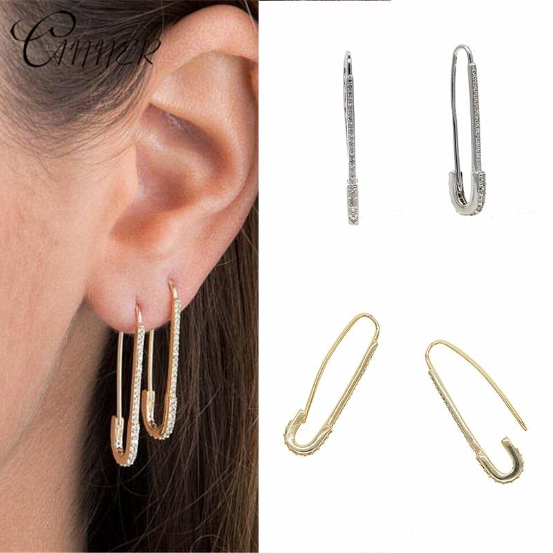 Женские длинные серьги-гвоздики CANNER, модные простые серьги-гвоздики, Корейский подарок