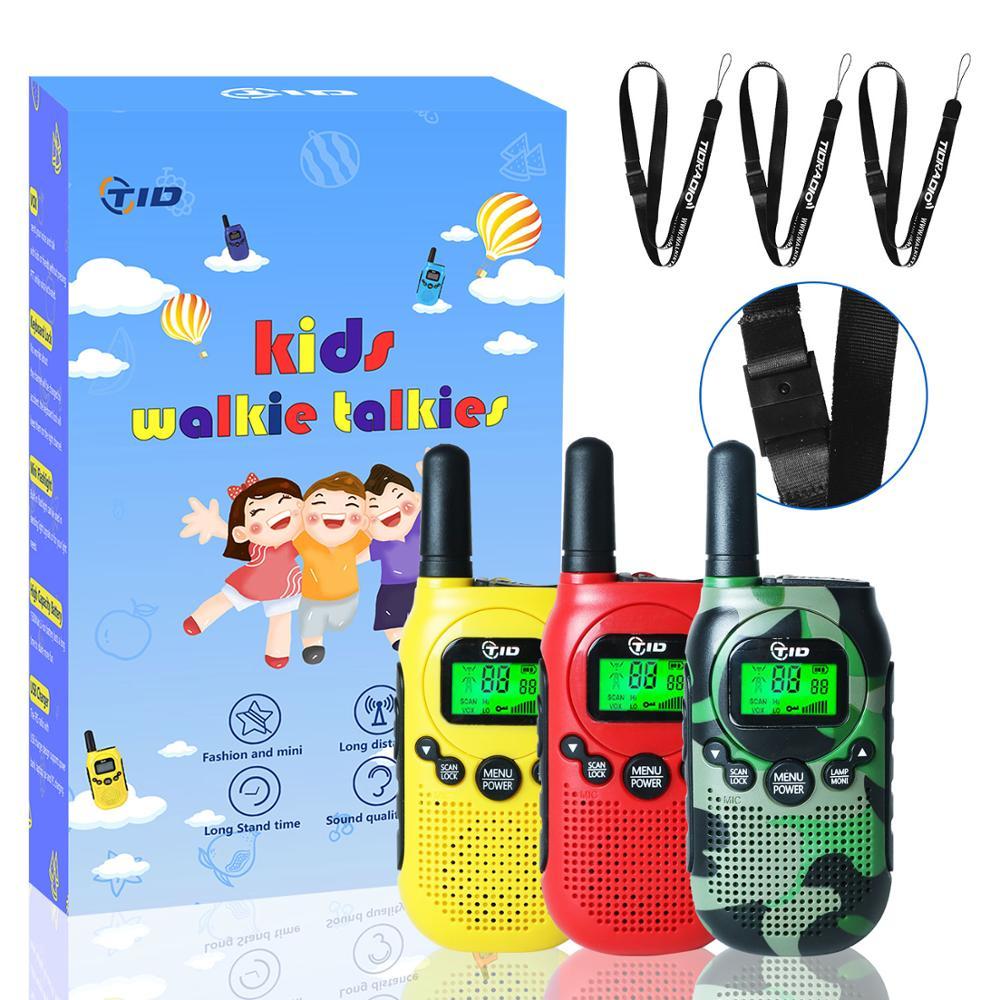 3pcs Kids Walkie Talkie Mini 0.5W PMR 446 FRS UHF Radio 22CH Two Way Radio Portable Ham Radio Station VOX Flashlight TD-M3