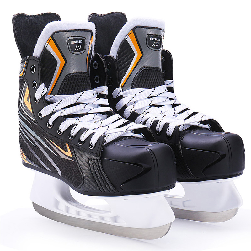 New Winter Adult Teenager Professional Breathable Thick Thermal Warm Ice Hockey Skates Shoes With Ice Blade Comfortable Beginner