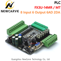 PLC Industrial Control Board FX3U-14MR FX3U-14MT 8 Input 6 Output 6AD 2DA And RS485 Compatible With FX1N And FX2N NEWCARVE