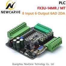 Industrial-Control-Board FX2N FX3U-14MR FX1N PLC And RS485 NEWCARVE with 6AD 2DA 8-Input