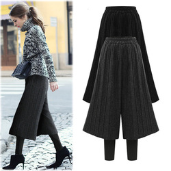 high waist M-6XL plus size warm velvet women leggings with loose medium length cotton pants sexy streetwear long workout pants