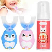 Elektryczne szczoteczki do zębów dla dzieci silikonowa szczoteczka do zębów w kształcie litery U automatyczna szczoteczka do zębów Sonic z 60ml pasty do zębów