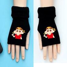Аниме Мультфильм crayon shin chan половина пальца перчатки для