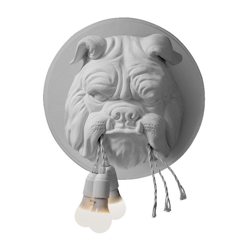 Dier Hond Wandlamp Woonkamer Decoratie Gang Gepersonaliseerde Home Decor Verlichting Designer Ktv Bulldog Wandlampen voor Thuis - 5