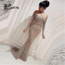 Gorąca sprzedaż abiti da sera szata sirene eleganckie formalne kobiety suknia bling ze świecidełkami brokatem darmowa wysyłka długie suknie wieczorowe XD 88