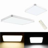 Ultraslim conduziu a lâmpada do teto da lâmpada da sala de estar moderna legal branco quente regulável com controle remoto 18 w 24 36 48 w 80 w