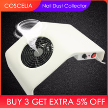 Nail Dust Collector Manicure Set Machine UV Gel Polish Cleaner Tools Vacuum Kit For Art