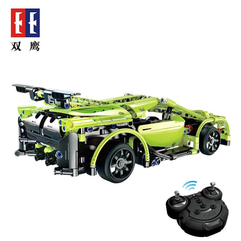 Double e fissuration prendre C51007 Science et technologie série électrique télécommande vert épée voiture de sport éducation des enfants
