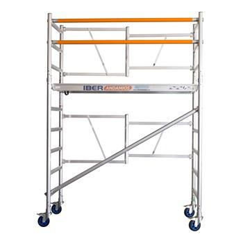 Andamio plegable de aluminio IBERANDAMIOS altura de trabajo 3,85 m