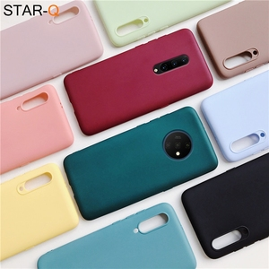 one plus 7 pro candy color silicone phone case for oneplus 7 7t pro 6 6t matte soft tpu cases oneplus7 cover oneplus6(China)
