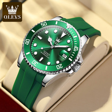 OLEVS Water Ghost Series Mechanical Watch Men Fashion Silicone Waterproof Automatic Watches Men's Sports Clock Relogio Masculino