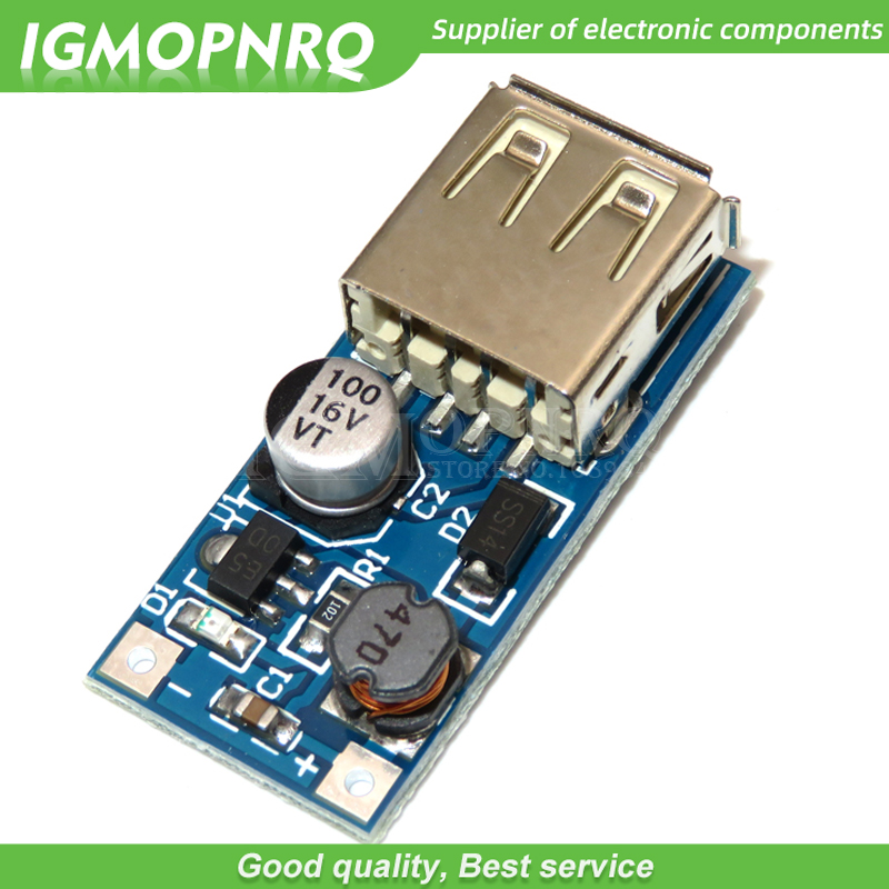 5PCS DC 0,9 V-5 V zu 5V 600MA Power Bank Ladegerät Step Up Boost Konverter Versorgung spannung Modul USB Ausgang Lade Platine