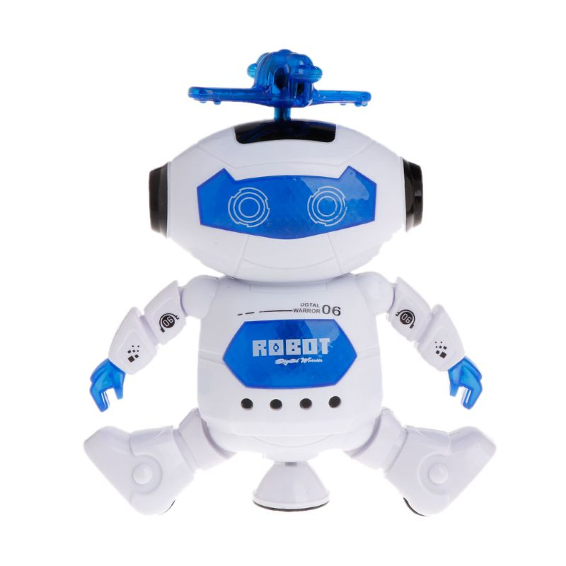 Electronic Walking Dancing Robot Toys With Music Lightening For Kids  Y4QA