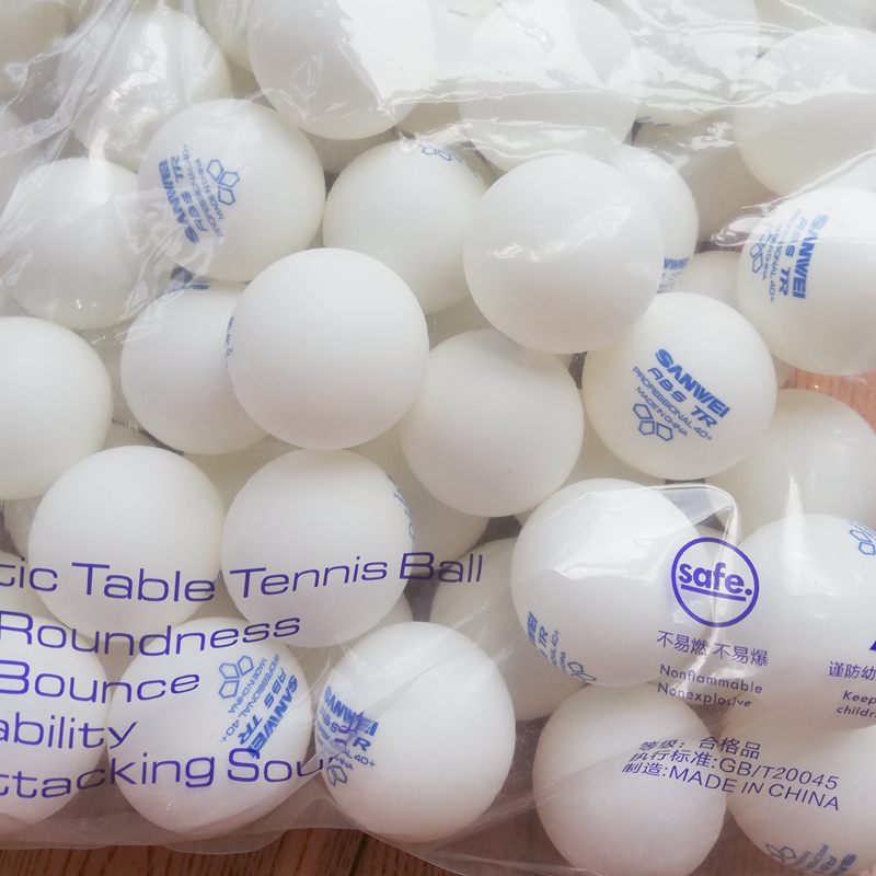 100Balls SANWEI 3-Star ABS 40+ 2019 New Table Tennis Ball ITTF Approved Training New Material Plastic Poly Ping Pong Balls